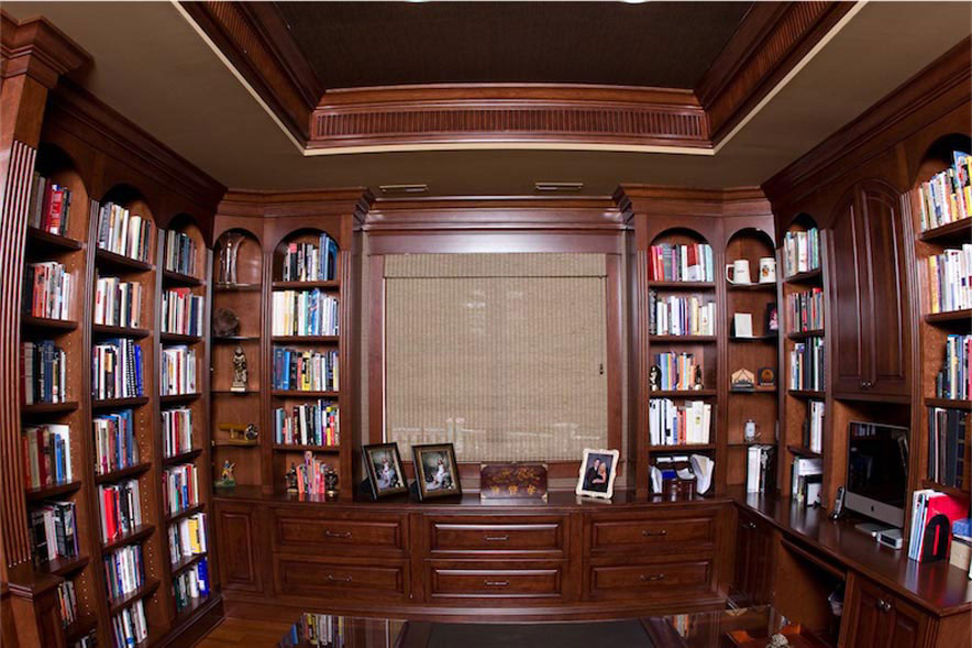 Elegant Home Office Library. 2 Cherry Library And Office Home Office Library