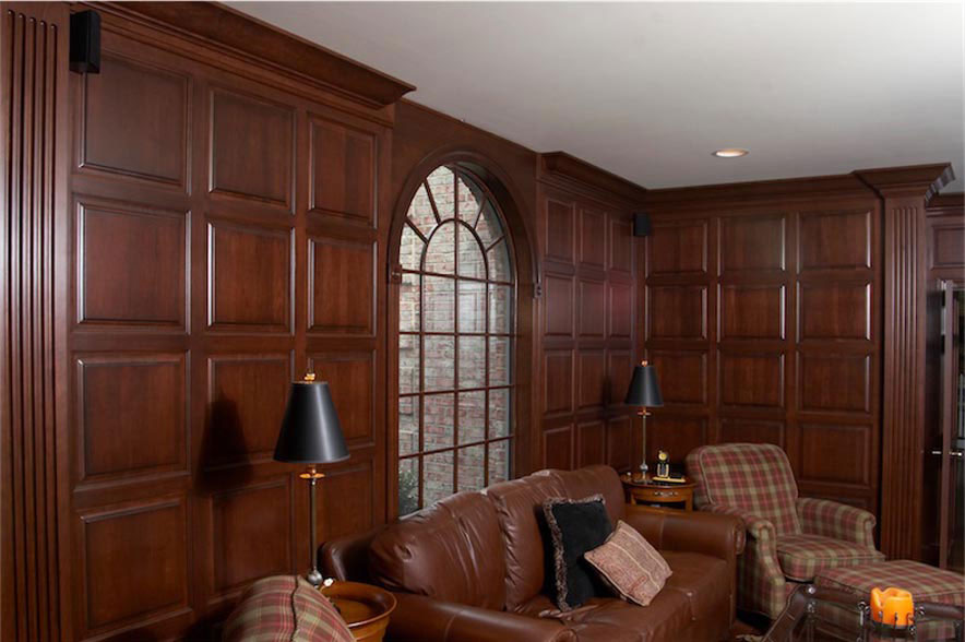 Exceptional 2 Raised Panel Cherry Wainscot