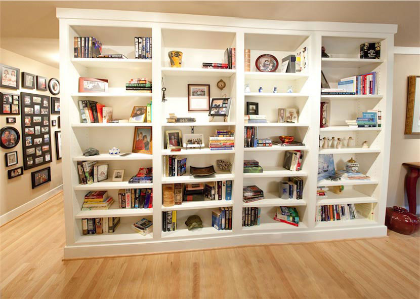3 Custom White Bookcases 2