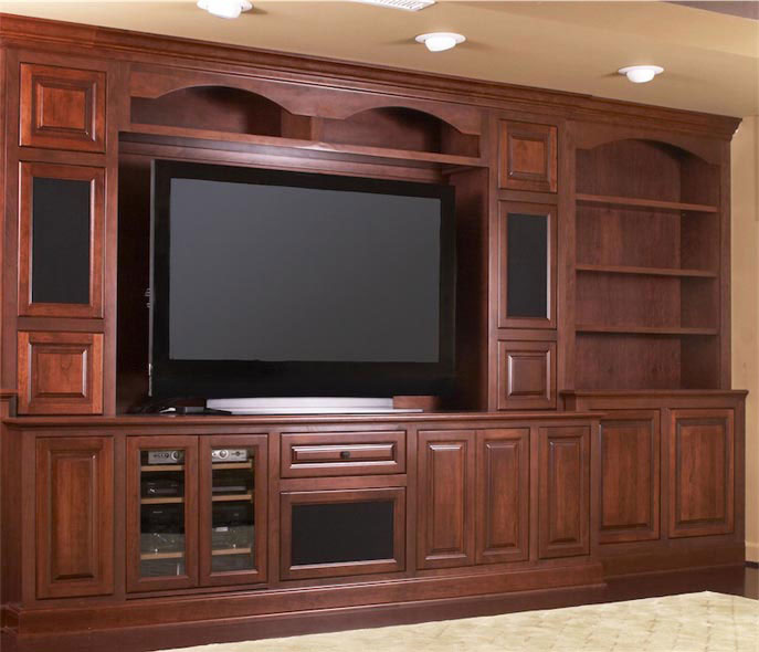Custom Kitchen Cabinets Maryland: Custom Cherry Media Cabinetry In Mt. Airy, Maryland